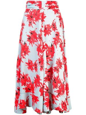 Splatter Floral Seamed Skirt