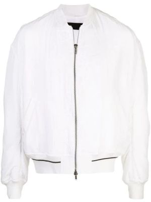 Embroidered Silk Bomber