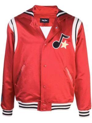 Silk Cape Varsity Jacket