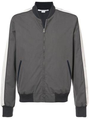 Two-tone Zipped Bomber Jacket