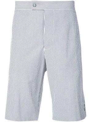 Striped Knee Length Shorts