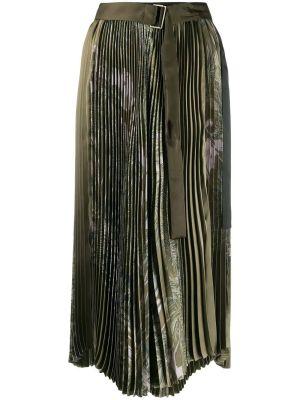 Green Sun-surf Print Skirt