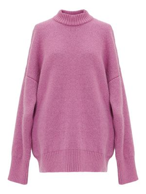 Pink Mock Neck Sweater