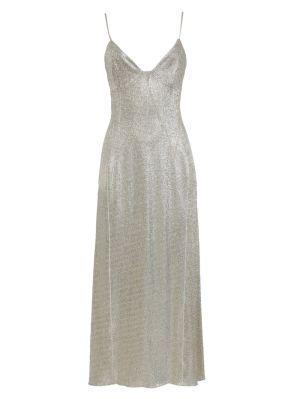 Silver And Gold Midi Dress