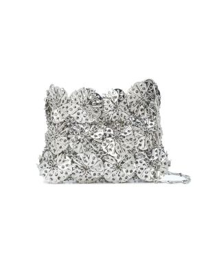 Silver-tone Sac Soir Handbag
