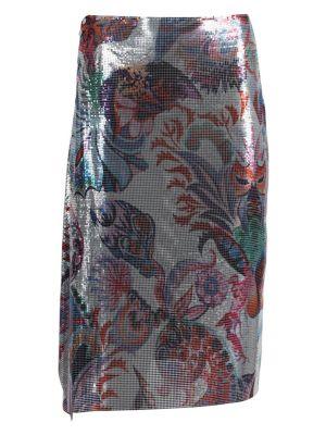 Metallic Chain Mail Wrap Skirt