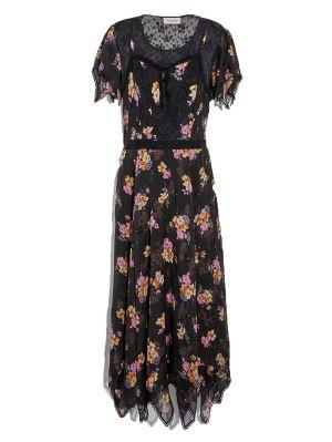 Embellished Forest Floral Print Dress