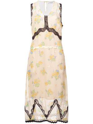 Forest Floral Print Sleeveless Dress