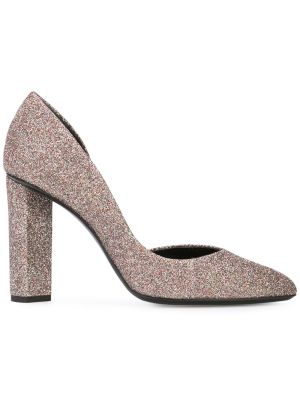 Glitter Block Heel Pumps