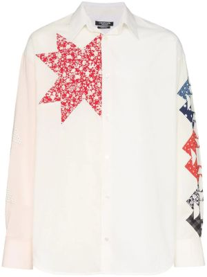 Triangle Embroidered Cotton Shirt