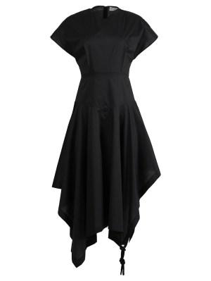 X Jw Anderson Asymmetric Midi Dress, Black