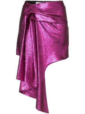Asymmetric Hem Mini Skirt