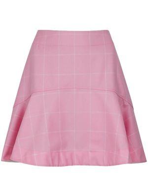 Pink Checked Mini Skirt
