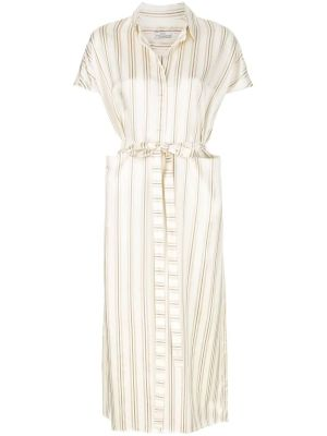 Ivory Striped Dress