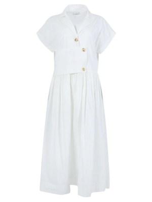 Overlay Detail Shirt Dress