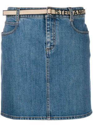 Belted Denim Skirt