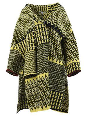 Black And Yellow Zig Zag Pattern Cape