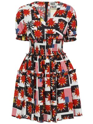 The Webster X Fausto Puglisi Printed Puff-sleeve Mini Dress
