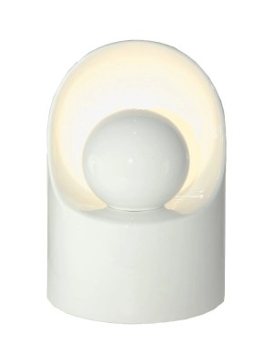 Tall Ceramic White Lamp