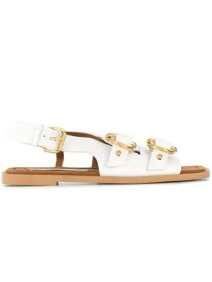 White Buckled Pakri Sandals