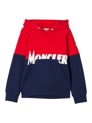 Kids Navy And Red Logo Hoodie