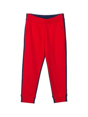 Kids Navy And Red Logo Sweatpants