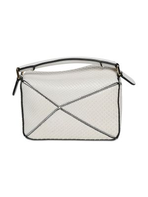 Mini Puzzle Snakeskin Bag