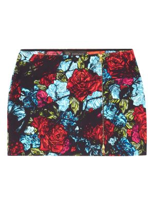 Rose Print Mini Skirt