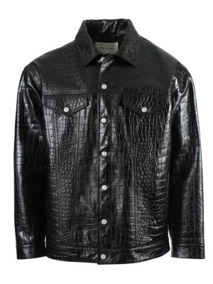 Black Croc Embossed Jacket