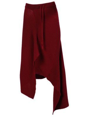 Burgundy Draped Skirt