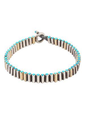 Mixed Metal Pellet Bracelet
