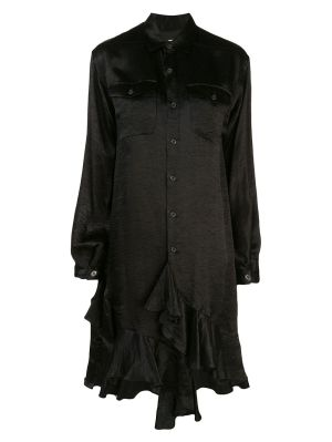 Ruffled Woven Shirt Dress