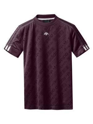 X Alexander Wang Burgundy Football Jersey T-shirt