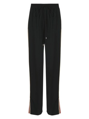 High-waisted Drawstring Pants