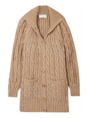 Woody Beige Cable-knit Jacket