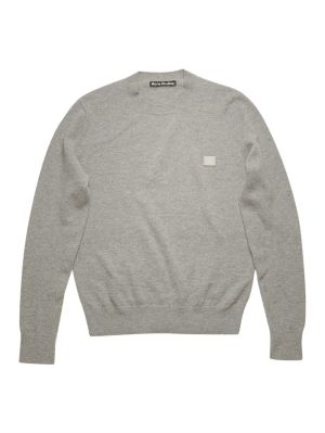 Face Wool Crew Neck Sweater