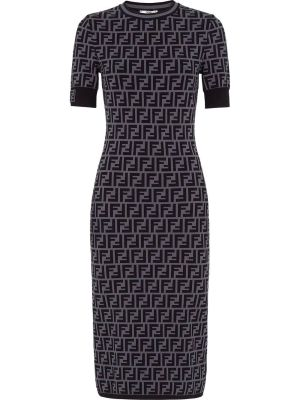 Ff Knit Midi Dress