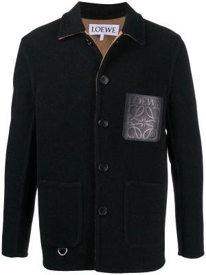 Black Wool Workwear Jacket