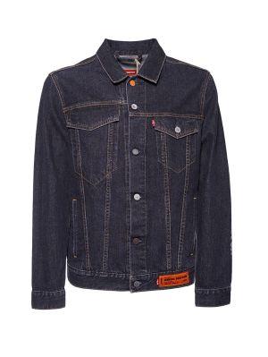 X Levis Concrete Jungle Black Wash Trucker Denim Jacket