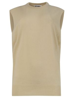 Medium Beige Knit Vest