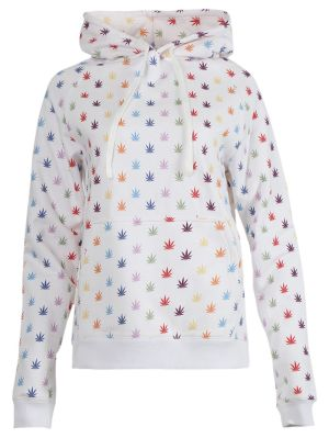 X Adam Lippes Weed Hoodie, White