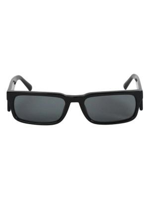 X Marcelo Burlon Black Rectangular Sunglasses