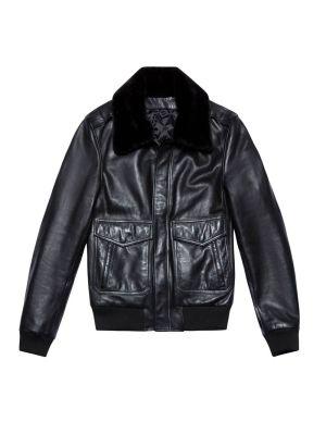 Leather Jacket 90, Black