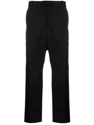 Cropped Straight-leg Pants Black Black