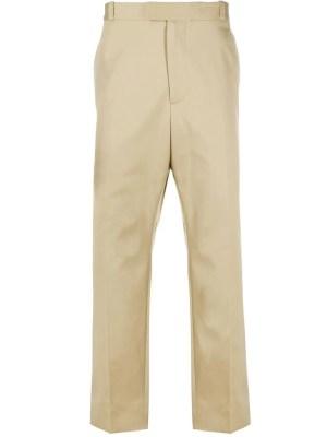 Cropped Straight-leg Pants Black Beige