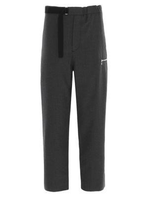 Grey Wool Regs Trousers