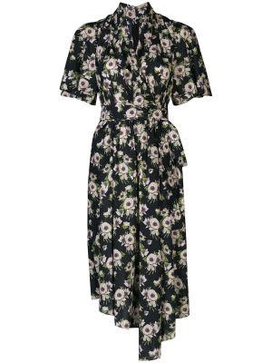 Floral Asymmetric Mid-length Dress