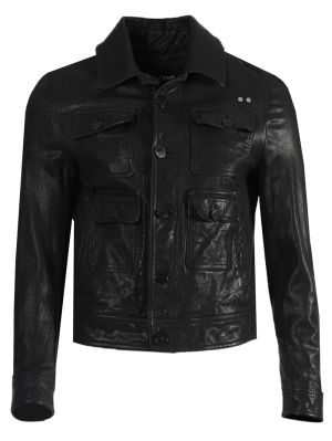 Travel Pocketed Washed Leather Jacket