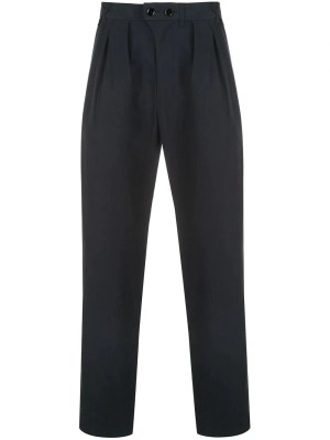 Navy Pleated Pants