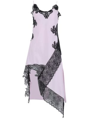 Pink And Black Lace Slip Dress